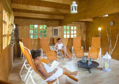 Sauna-Ruheraum